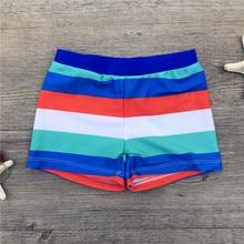 Novo verão menino troncos para natação colorido listrado maiô crianças nadar shorts do bebê meninos praia roupa de banho dos miúdos