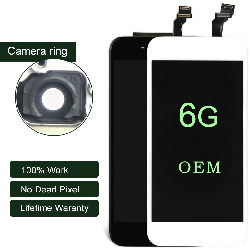Pantalla LCD OEM Premium de 10 piezas para iphone 6 con pantalla táctil sin píxeles muertos para iphone, pantalla digitalizadora de 6G
