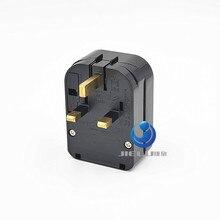 Convertisseur de cordon dalimentation Euro 250v 16A   Universel mis au sol, 13a fondu, connecteur ue à uk, adaptateur BS