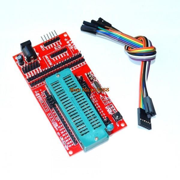 Microcontrolador PIC/placa de sistema mínimo/placa de desarrollo/asiento de programador universal ICD2 kit2 KIT3 para PICKIT 2 PICKIT3