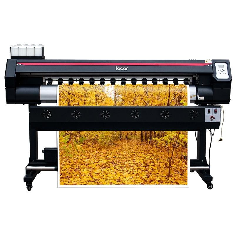 De inyección de tinta impresora Digital de gran formato 1,6 m coche vinilo pegatina máquina al aire libre Plotter con solvente ecológico cartel máquina de impresión