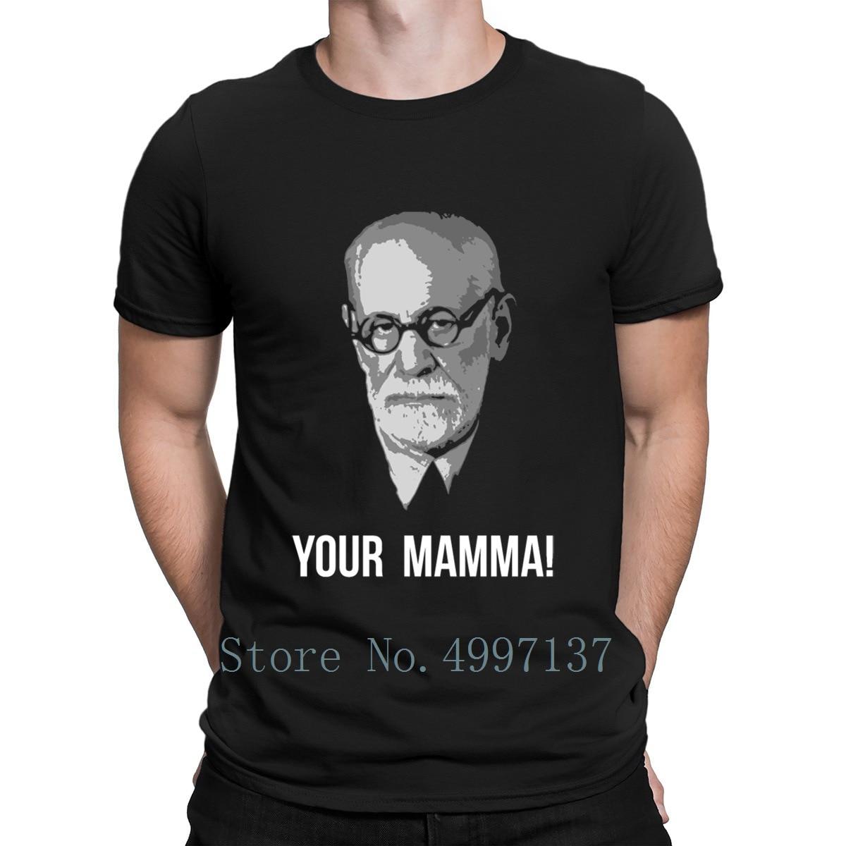Ihre Mamma Freud Psychoanalytics T Hemd Muster Kurzarm Frühling Fitness Komfortable Printed Plus Größe 3xl Standard Hemd