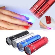 Nagel Trockner Mini LED Taschenlampe UV Lampe Tragbare Für Nagel Gel Schnelle Trockner Heilung 4 Farben Wählen Nagel Gel Heilung maniküre Werkzeug