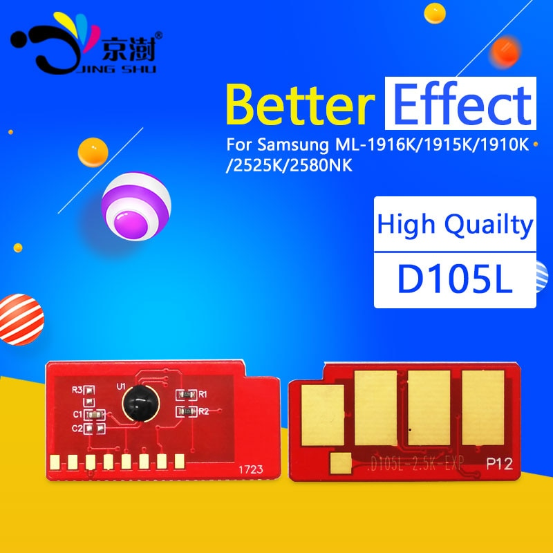 1 Uds compatible para Samsung ML-1910 ML-1911 ML-1915 ML-1916 impresora para Samsung MLT-D105L D105L 105 cartucho de tóner Chip 2,5 K