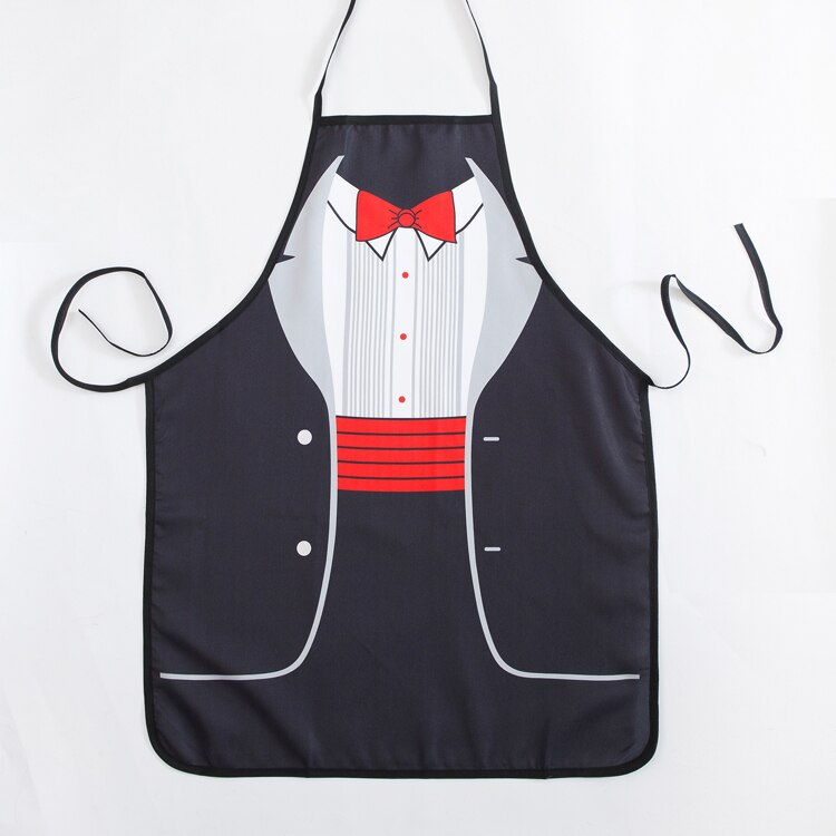 Funny Aprons Novelty Gentleman formal dress Cooking Apron for Fancy Dress For Gift design lovers gift enlarge