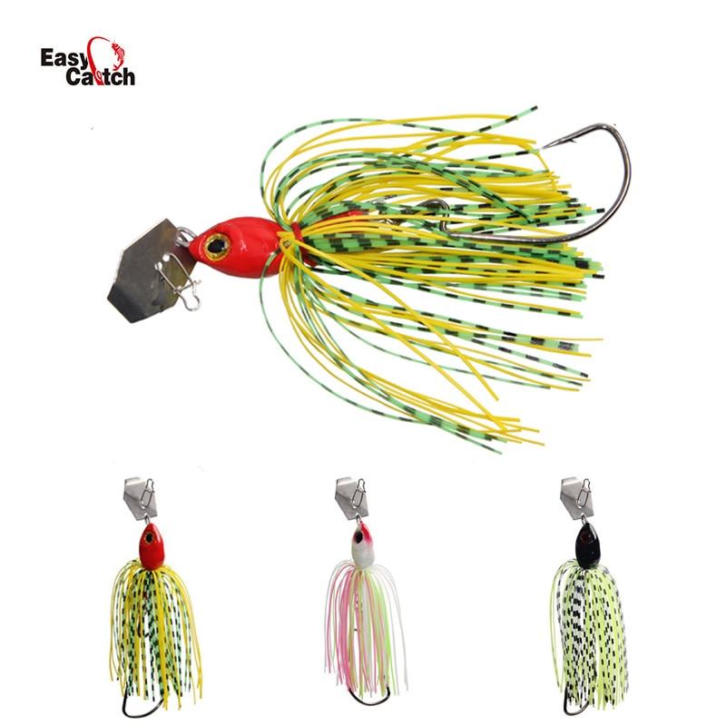 6Pcs/lot Spinner Bait  Fishing Lure Buzzbait Wobbler Spinnerbait Lead Head Jigs Lure For Bass Pike Walleye Sea Fishing
