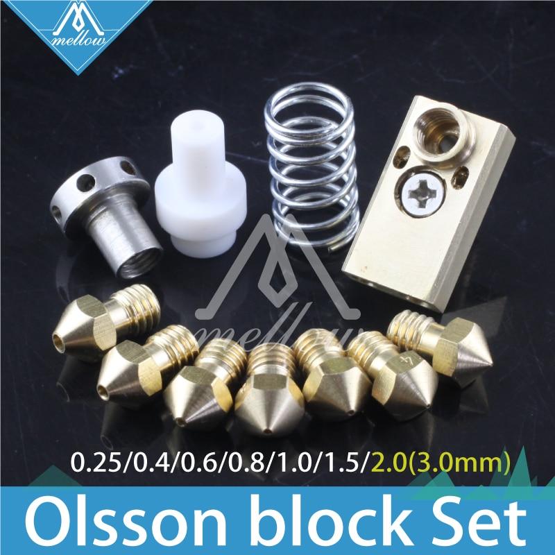 3D printer Upgrade Ultimaker 2 + UM2 Extended+ Olsson block nozzle hotend kit for 1.75/3mm filament  Heaterblock