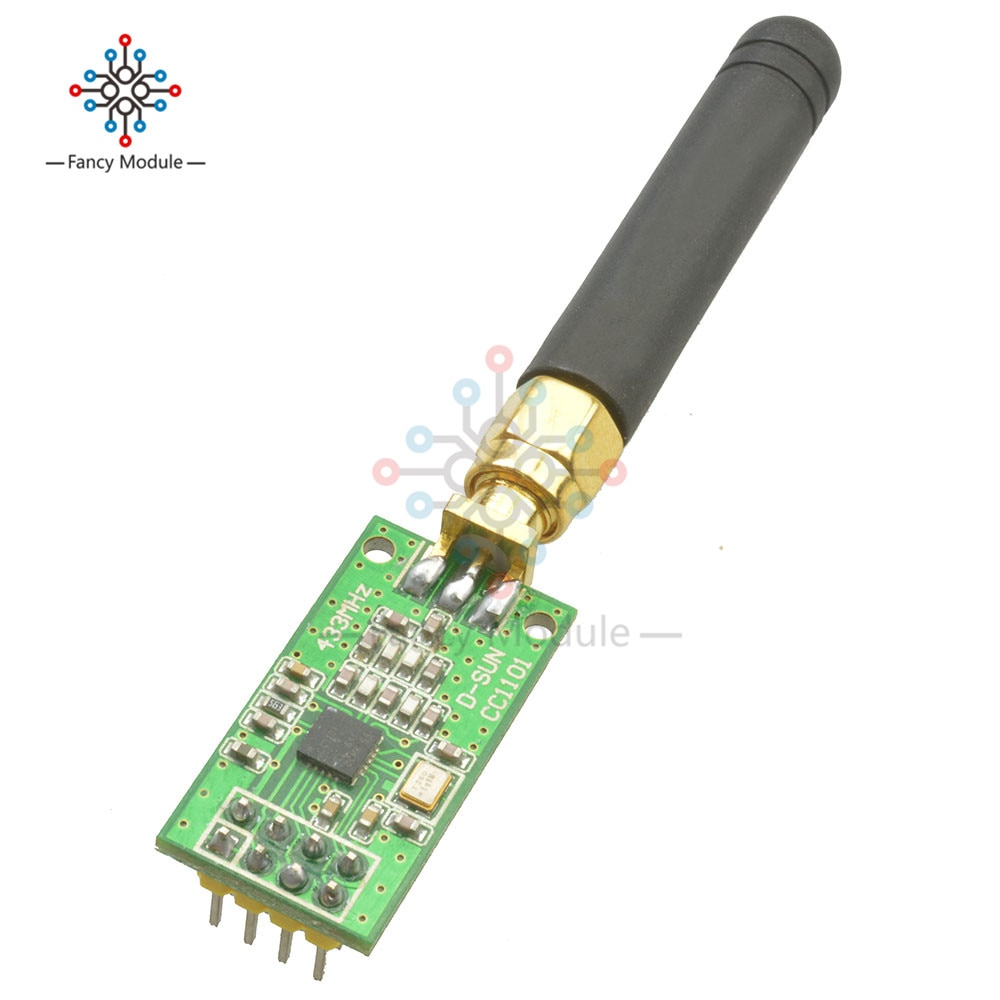 Transceptor de RF inalámbrico CC1101, módulo inalámbrico de antena 315/433/868/915MHZ + SMA