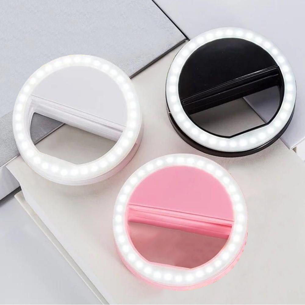 LIGINWAAT nueva marca portátil flash tipo Aro para selfies lámpara de luz led teléfono móvil lámpara selfi led anillo Flash para Iphone Samsung