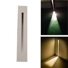 BECOSTAR intérieur encastré escalier mur LED ampoule 3 W blanc chaud 3000 K angle de faisceau étroit étape LED ampoule