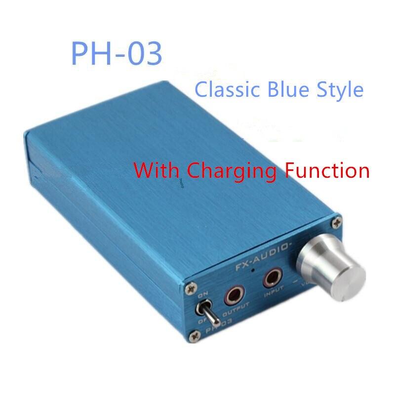 DC9V 1A PH-03 amplificador portátil/amplificador de grupo pequeño/puede empujar AKG701 HD650/negro y azul