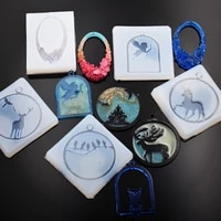 snasan silicone mold for jewelry frame animals pendant resin silicone mould handmade epoxy resin molds muju diaozhui 004