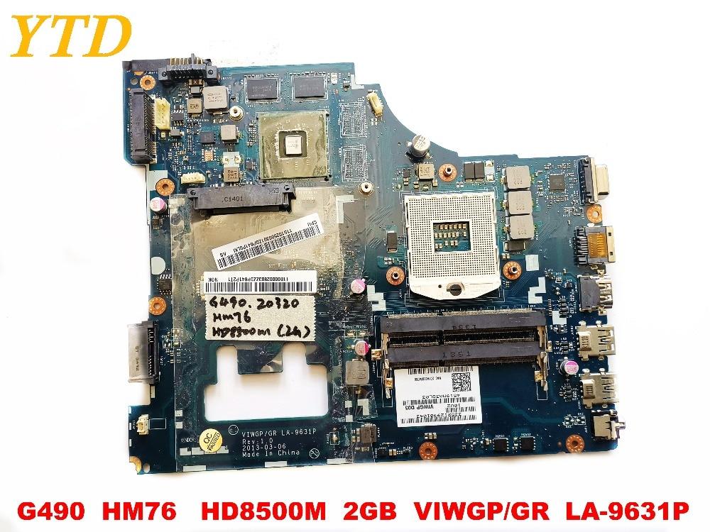 الأصلي لينوفو G400 G490 اللوحة المحمول G490 HM76 HD8500M 2GB VIWGPGR LA-9631P اختبار جيد شحن مجاني