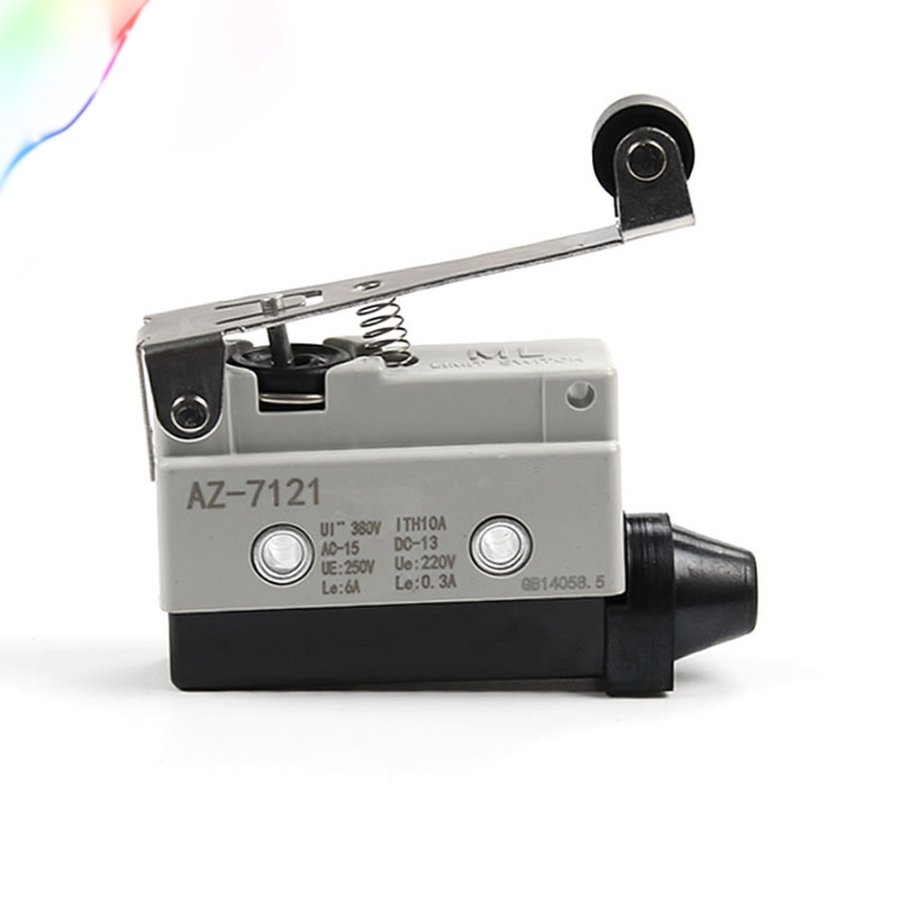 1 pces 10a micro interruptor AZ-7121 pequeno interruptor de curso horizontal micro interruptor de limite reset TZ-7121 1nc/1no