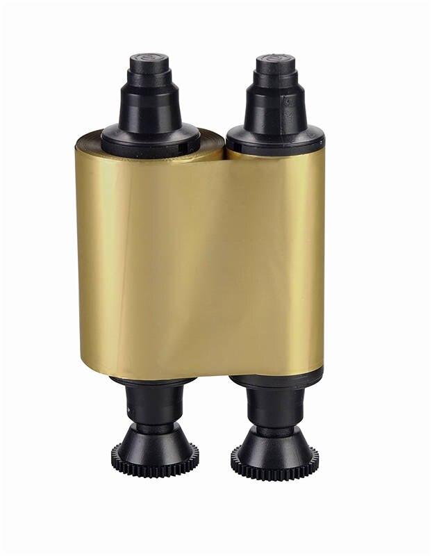 Cinta monocromática de oro Evolis R2016 compatible con 1000 impresiones para impresora Pebble Dualys