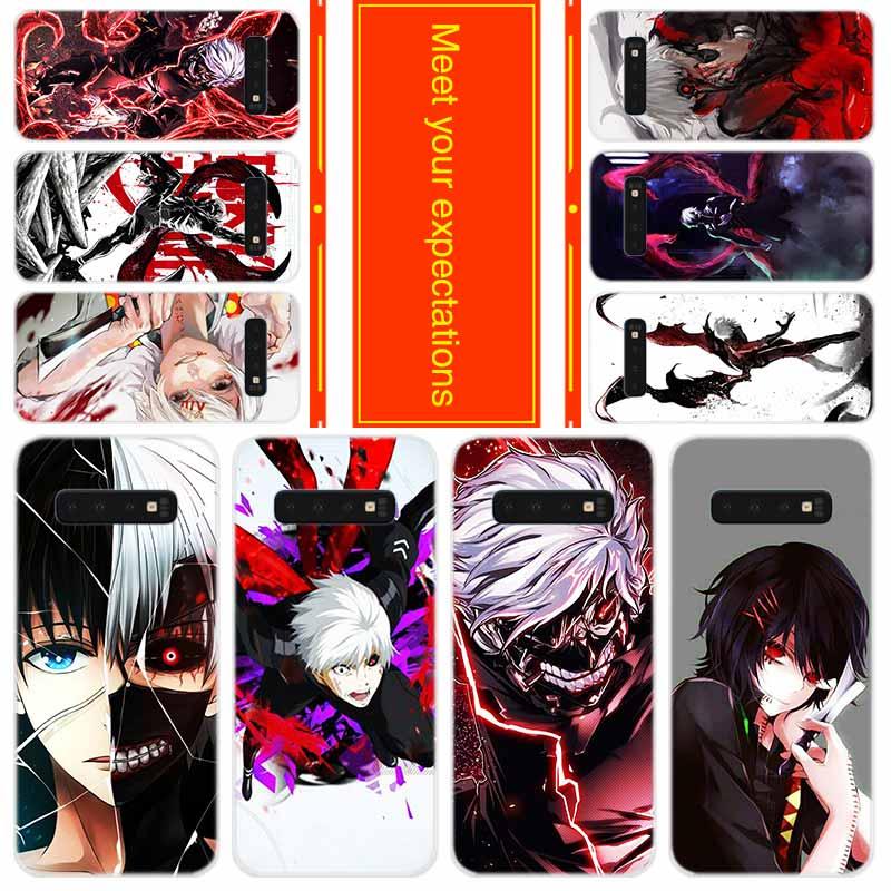 Teléfono para Samsung Galaxy S10 E S9 S8 más S7 s6 borde S20 Uitra Nota 10 funda anime japonés Tokyo Ghoul
