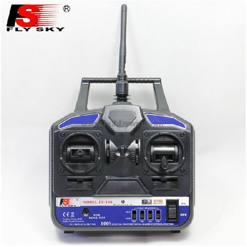 FlySky FS-T4B + FS-R6B 4Ch 2,4G sistema de Radio fpr RC avión planeador helicóptero