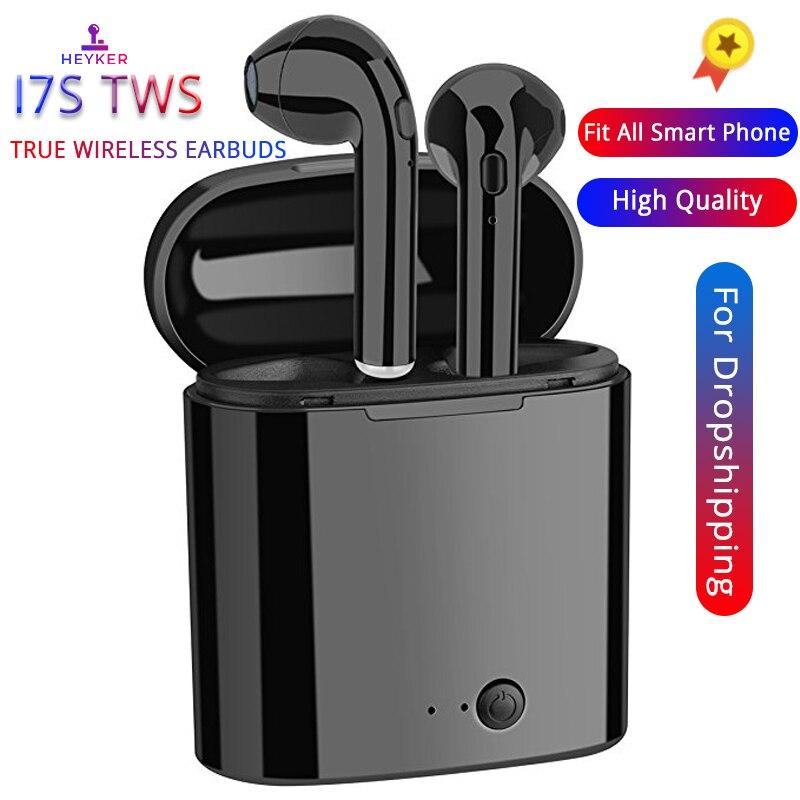 I7s TWS słuchawki powietrza Mini bezprzewodowe słuchawki Bluetooth słuchawki stereo zestaw słuchawkowy Mic dla Iphone Xiaomi wszystkie inteligentny telefon i10 i12 i9s