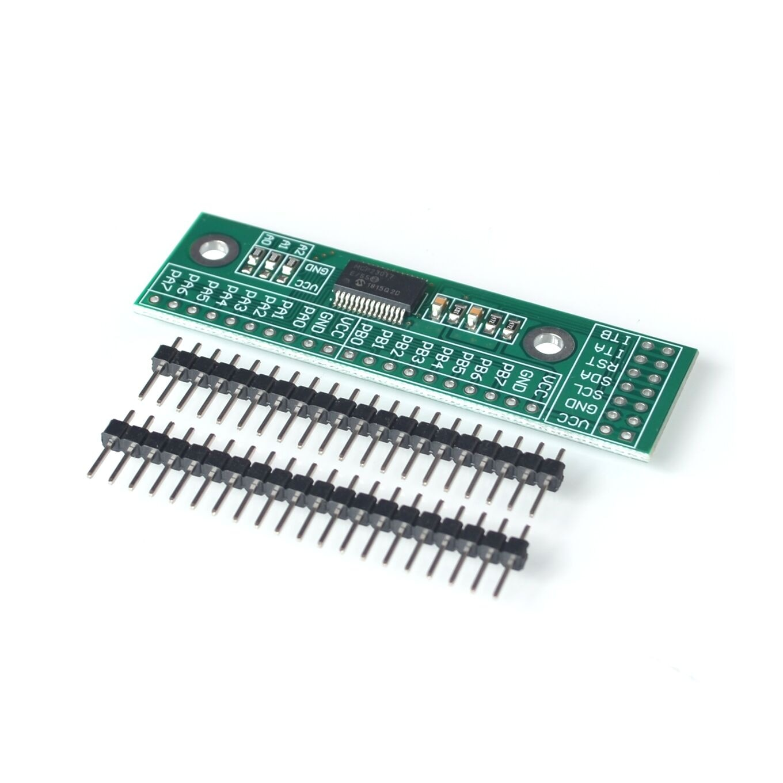 MCP23017 I2C interfaz 16bit/O extensión pin MÓDULO DE LA CII A GIPO convertidor 25mA1 coche fuente de alimentación para Arduino y C51