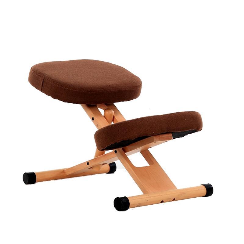 Ergonómico de rodillas silla taburete de oficina de madera postura soporte de mobiliario de madera ergonómico silla equilibrio cuerpo dolor de rodilla taburete