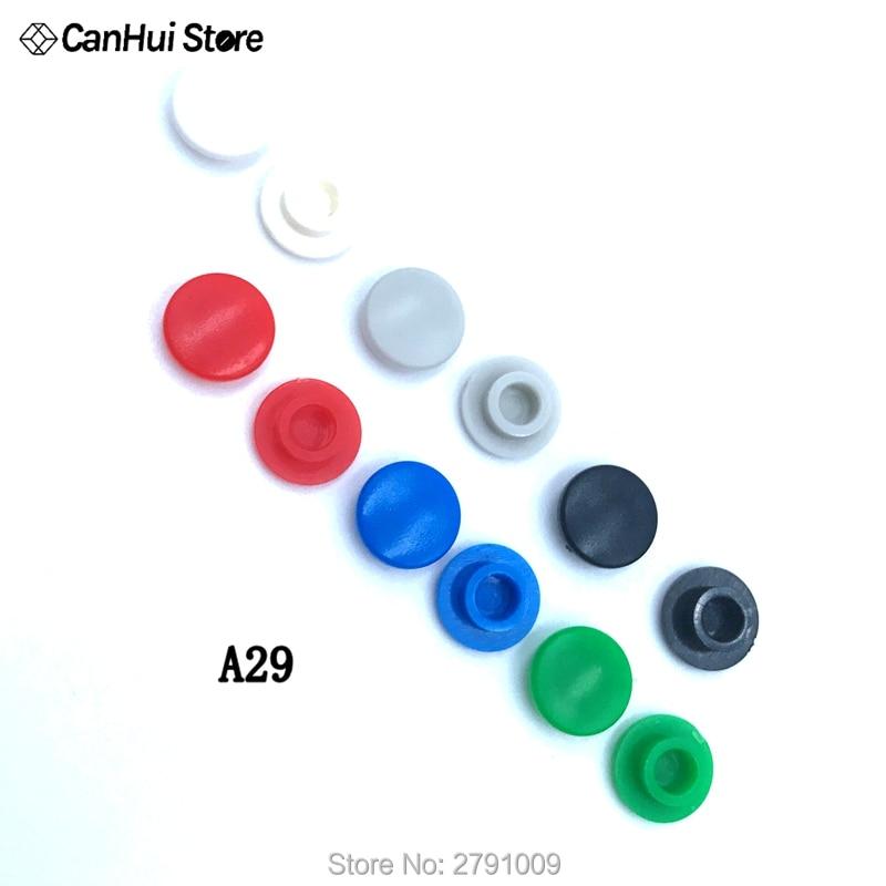 Tapa de interruptor de botón táctil Micro 30 Uds A29 Ajuste de tapa de tacto momentáneo 6*6 interruptores rojo negro blanco gris azul verde 6x6mm