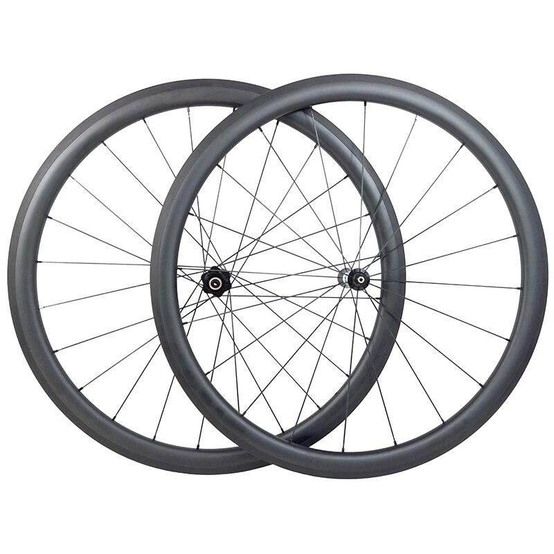 700c 38mm clincher tubeless carbon wheels 25mm wide U shape straight pull 10s 11s wheelset UD 3K 12K matte glossy aero spoke