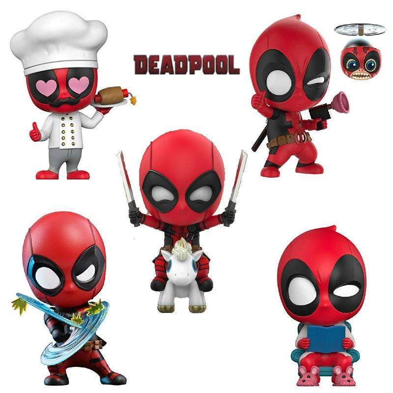 Deadpool & kidpool & dogpool cosbaby chef ver. Bala repele ver. Comic Figura de BRINQUEDO