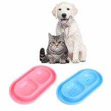 Fournitures danimaux domestiques Double bols en plastique   Distributeur deau pour chiens, chats, chiot, conteneur daliments de haute qualité C42