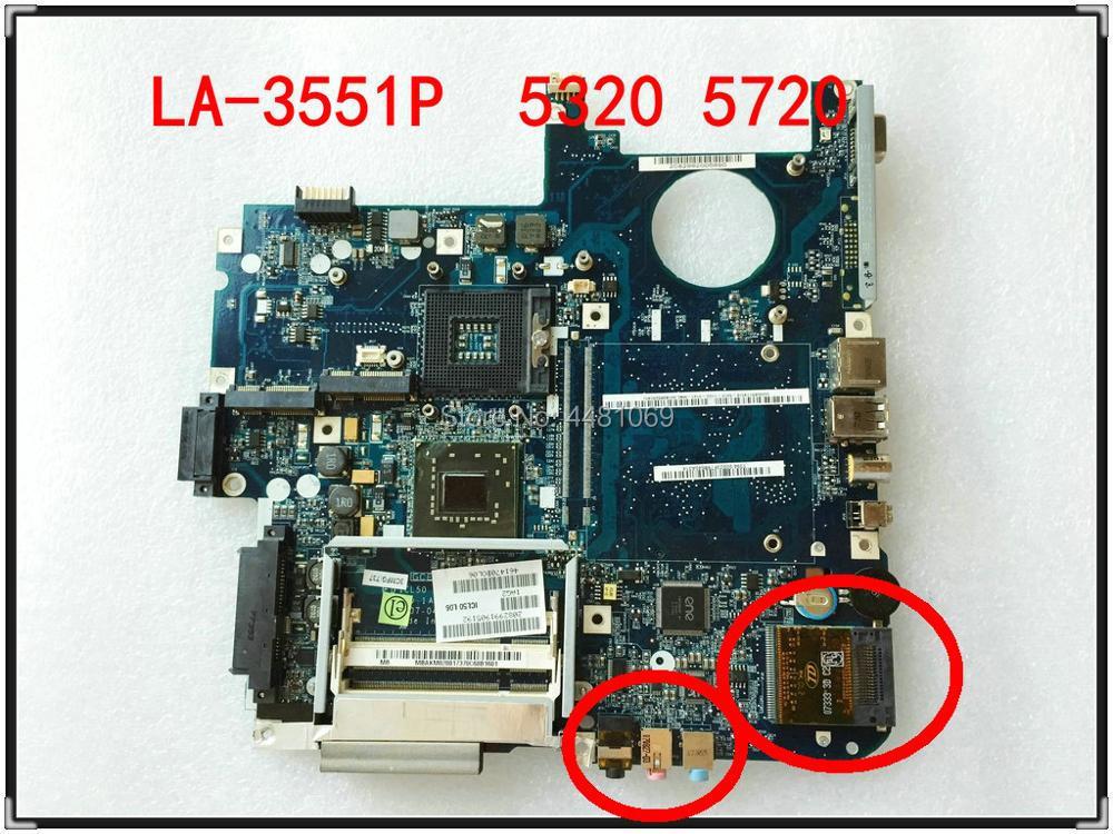 LA-3551P para Acer aspire 5320 5720 5720G, placa base para ordenador portátil,...
