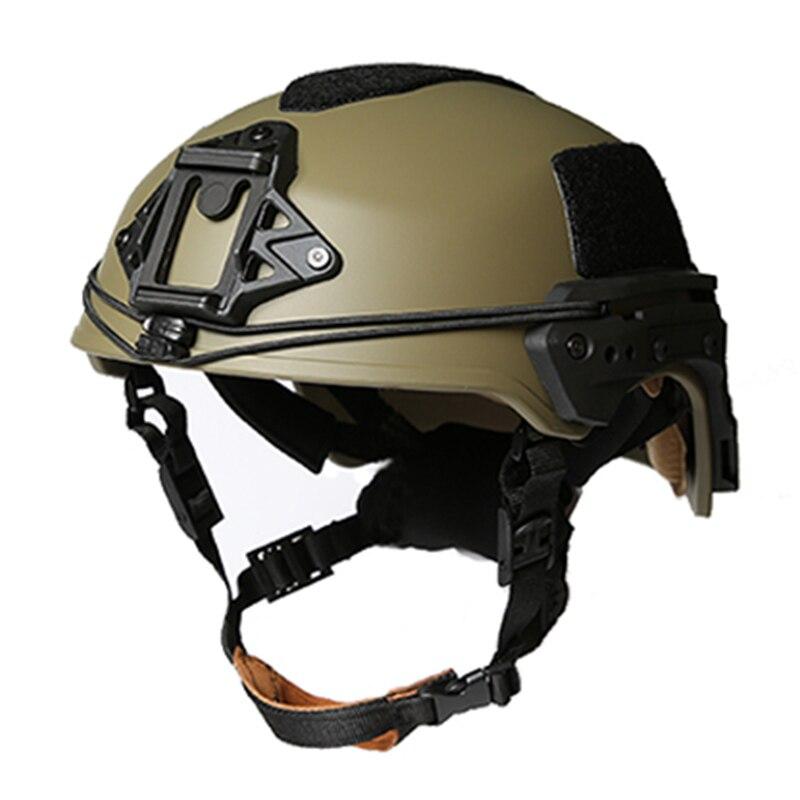 2019 cascos de deportes nuevos EX cascos balísticos Rail casco táctico militar ABS (RG color) para caza al aire libre y Airsoft