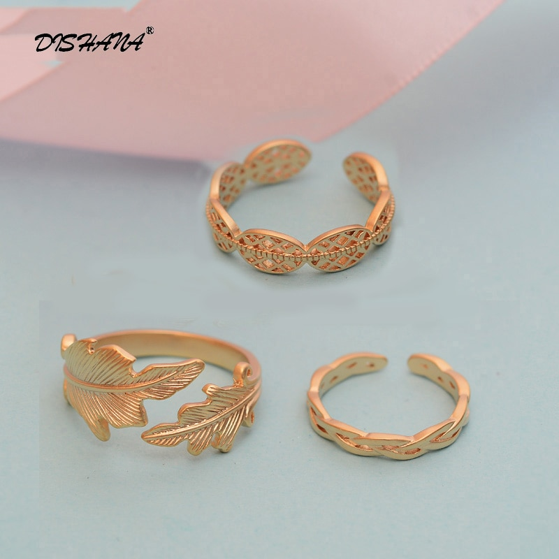 3 Teile/satz schmuck Gold-farbe Stapel Plain Band Mid Finger-knöchel-ring Set Spezielle Ringe für frauen Anillos Mujer KA0152