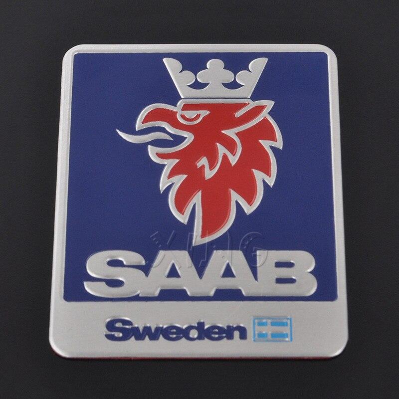 1 Pcs de Alta Qualidade Etiqueta Do Logotipo Do Carro Emblema Cromado Emblema Auto Para SAAB 9-3 9-5 93 95 900 9000 Suécia Decalque Car Styling acessórios