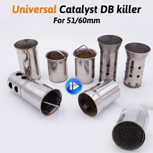 universal 51mm front end DB Killer for Motorcycle Exhaust Muffler DB killer Silencer Noise Sound Eliminator for Off road Bike