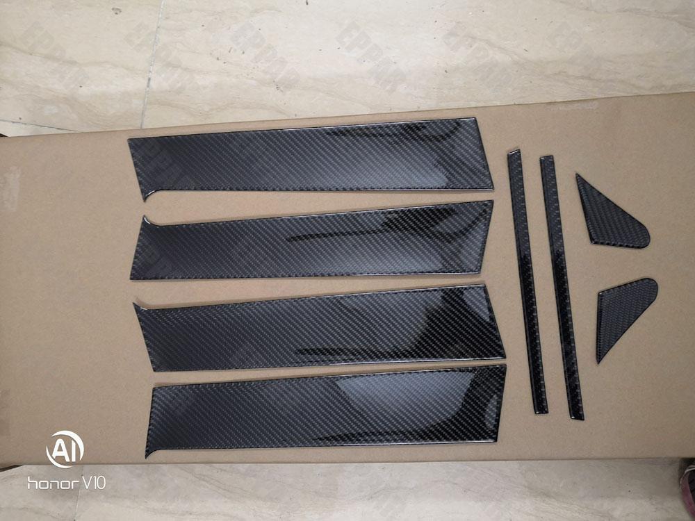 Juego de cubiertas de Pilar B de fibra de carbono para Mitsubishi Lancer Evo 10 EX 2008-2015