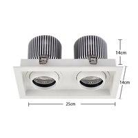 SCON AC110-240V Double head 60W high bay light 4800LM COB CRI Ra>85 office living room supermarket modern ceiling lamp