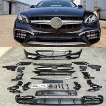 E63 S AMG Look Bodykit for Benz E Class W213 E200 E300 Bodykits FRP Front Bumper+Rear diffuser+Exhaust Pipes+Front Grill Lips