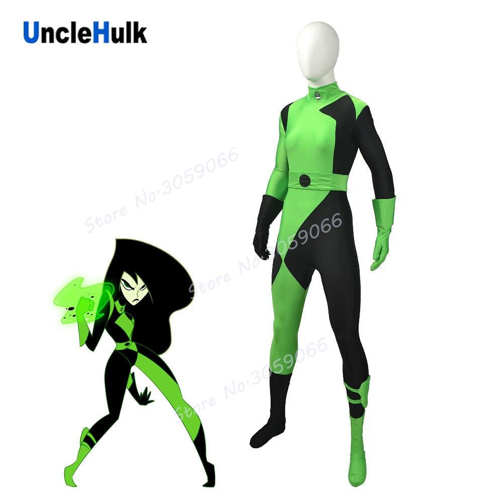 Kim Möglich Shego Kostüm Spandex Shego Körper Anzug Cosplay Kostüm   UncleHulk