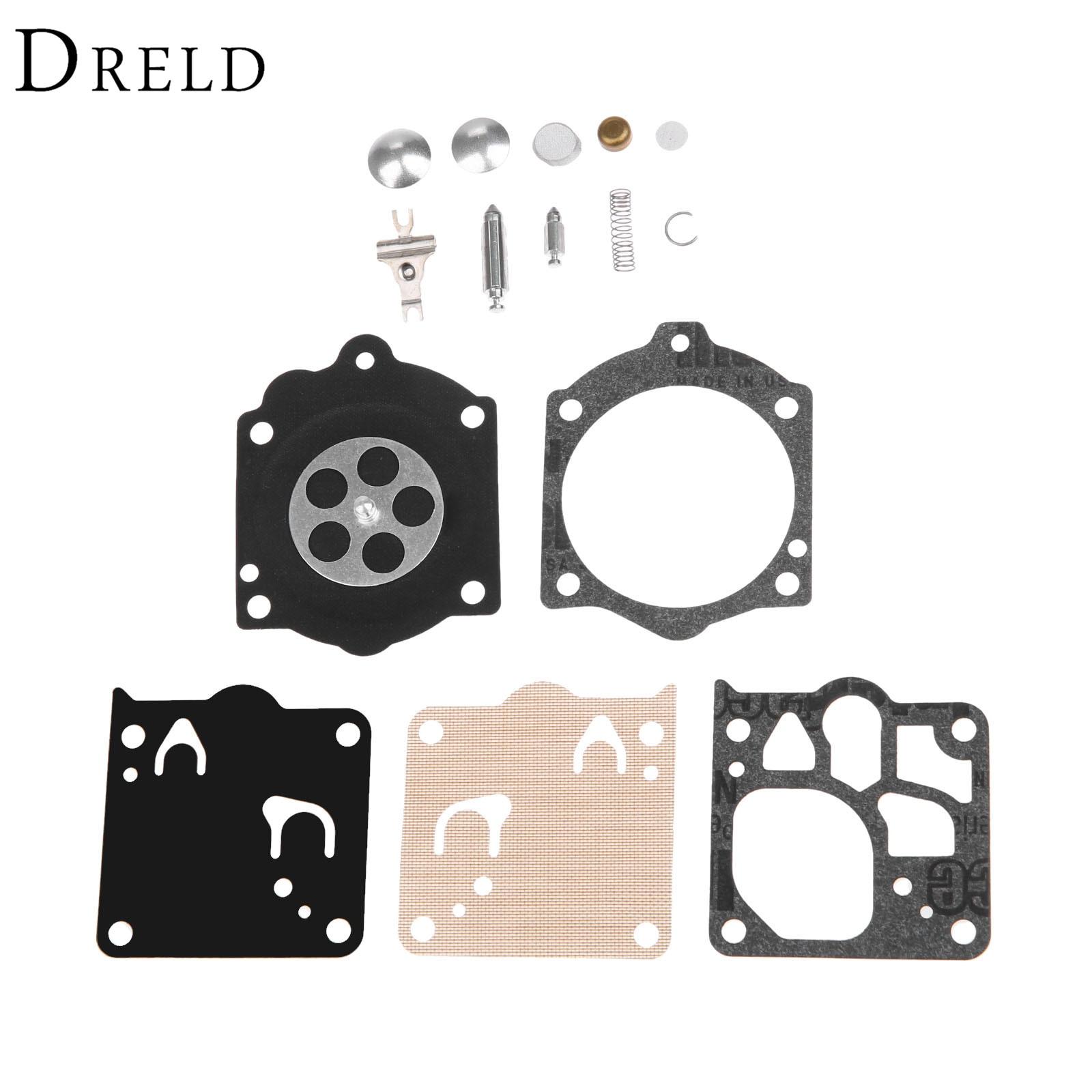 DRELD Vergaser Carb Rebuild Kit Dichtung Membran für Stihl MS660 Kettensäge Walbro WJ Carb Ersetzen Walbro K10-WJ/Neue K12-WJ