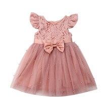 Emmababy Floral chico bebé niña vestido de princesa desfile encaje Tutu vestidos ropa