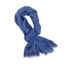 190*85cm Wholesale Brand Winter Scarf Men Warm Soft Tassel Bufandas Cachecol Gray Woven Wrinkled Cotton Men Scarves