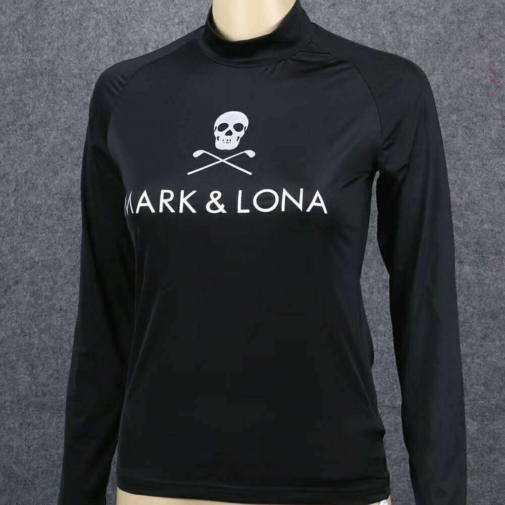 Ladies Mark/Lona Golf Skull Training T-Shirt Outdoor Sports Sun-Proof Quick Dry Long Sleeve ML Golf T Shirt Women