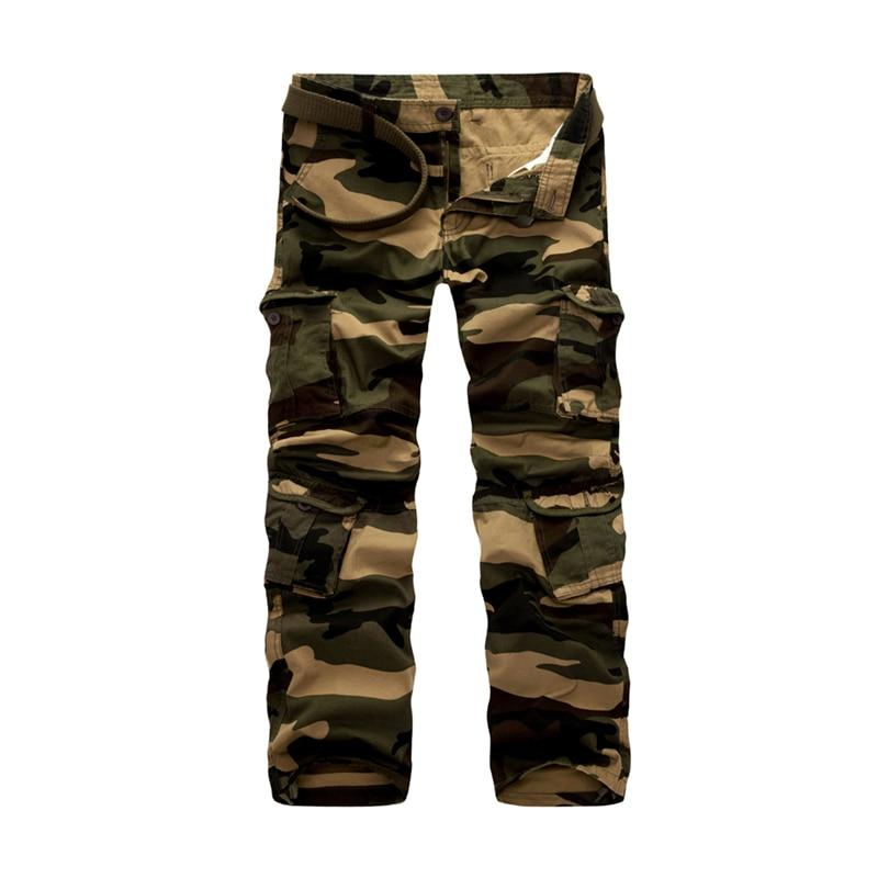 ¡De talla grande 28-46! Pantalones Cargo de hombre de algodón de alta calidad Ropa nueva caqui Casual pantalones largos prendas de vestir trabajo militar pantalones hombres