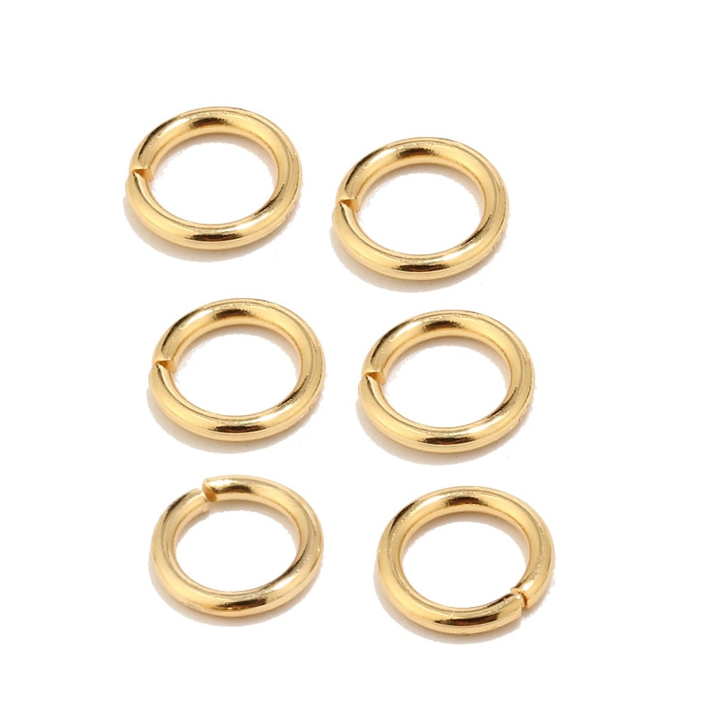 100pcs באיכות גבוהה זהב טון נירוסטה קפיצת טבעות עבור תכשיטי ביצוע ממצאי אספקת ושרשרת עגיל תיקונים 5mm