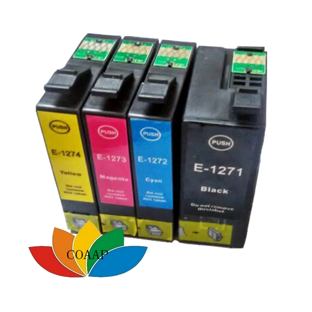 4 шт., картриджи для принтера EPSON T1271 T127XL