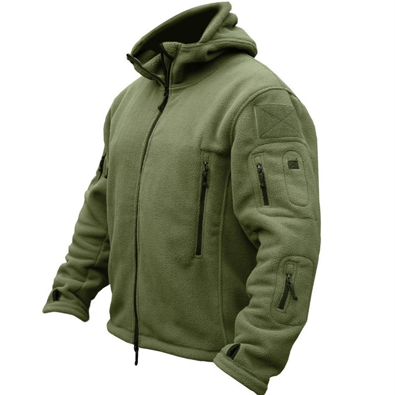 Winter Military Uniform Clothes Softshell Jacket Men Tactical Thermal Breathable Hooded Coat Army Camo  Outerwear men zip camo hooded jacket