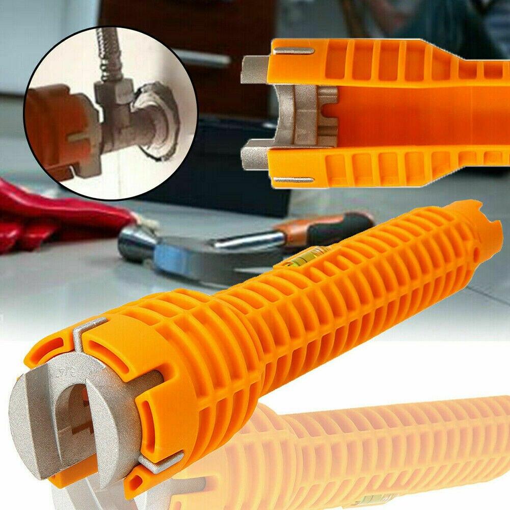 Grifo de tubo de agua multifunción llave inglesa para grifo herramienta para fregadero juego de accesorios de baño