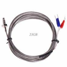 Thread M6 Screw Probe Temperature Sensor Thermocouple K Type Cable 2M 0 - 600 C M11