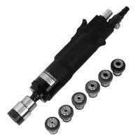 Pneumatic Tapping Machine 200rpm 400rpm Air Drill Tapper Tool + 6pc Chucks M3/M4/M5/(M6-8)/M10/M12 for Universal Flexible Arm