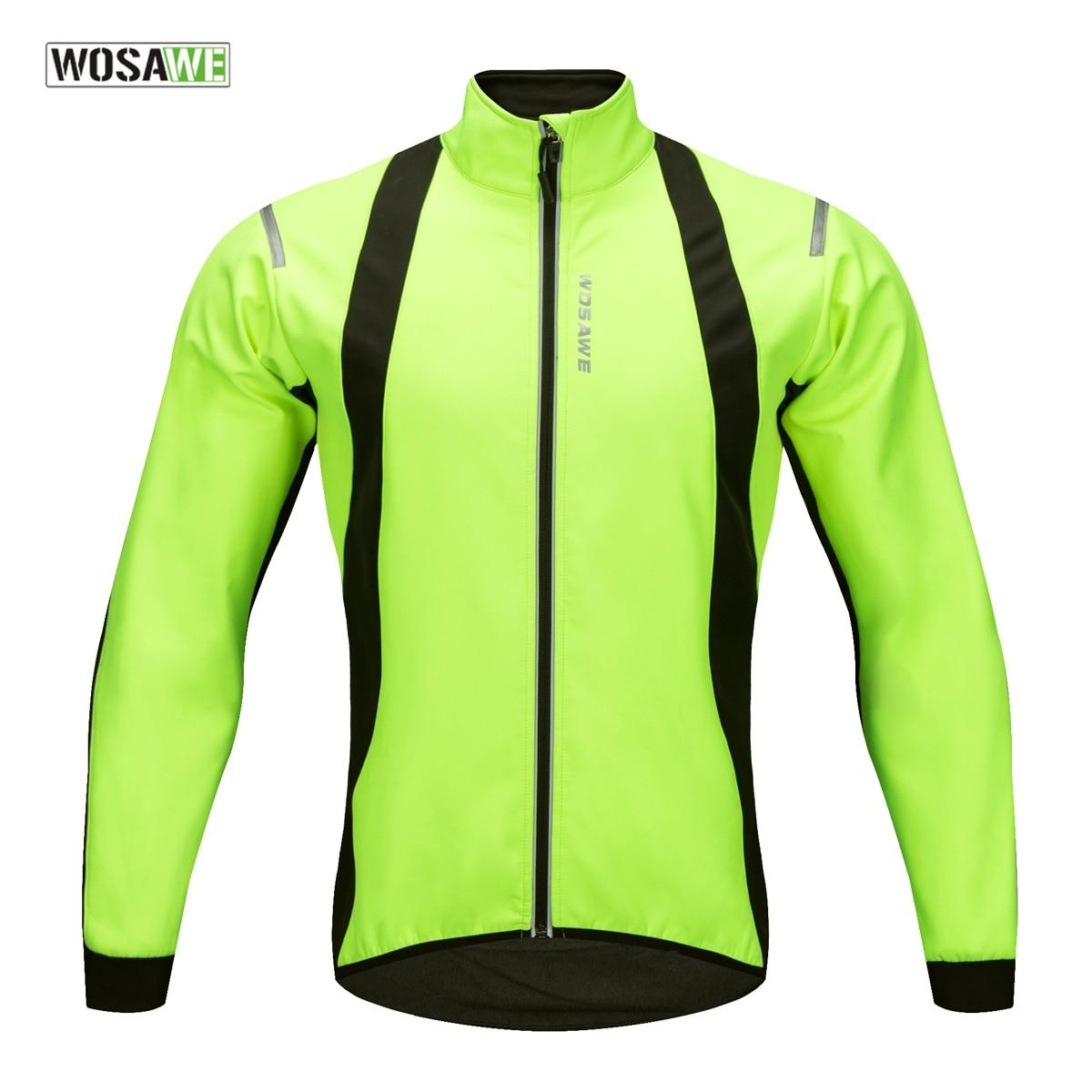 Chaqueta de ciclismo WOSAWE 2018 resistente al viento, ropa de invierno cálida para bicicleta, repelente al agua, abrigo deportivo frontal, Jersey térmico para bicicleta de montaña