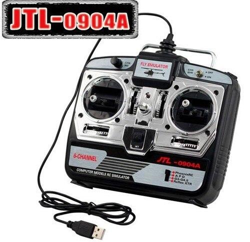 Jtl 6ch rc simulator xtr + real flight g7 + phoenix5.0 jtl 0904a real simulador de helicóptero de vôo cd disco modo 1/modo 2 p2